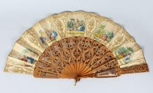 A LATE 18TH-19TH CENTURY MIRRORED FAN.