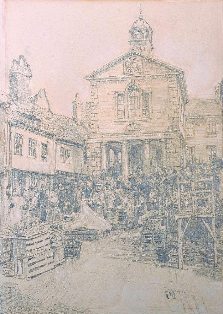 William Larkin (19th Century) British.    'Market