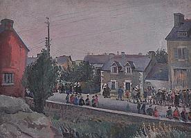 EDWARD BAINBRIDGE COPNALL (1903-1973) Queuing in