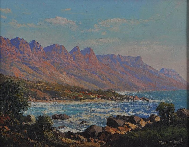 TINUS DE JONGH (1885-1942) DUTCH Rocky coastal