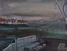 EDWARD BAINBRIDGE COPNALL (1903-1973) Harbour. Oil