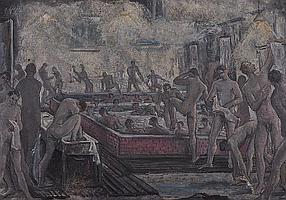 EDWARD BAINBRIDGE COPNALL (1903-1973) Men bathing