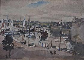 EDWARD BAINBRIDGE COPNALL (1903-1973) 'CONCARNEAU'