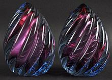 A PAIR OF HEAVY PAPERWEIGHTS.