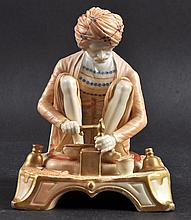 A RARE ROYAL WORCESTER FIGURE OF KARAN SINGH,