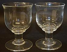 TWO 19TH CENTURY DUMMER GLASSES. 5.5ins high.