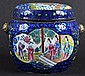 A 19TH CENTURY CHINESE CANTON ENAMEL BARREL AND