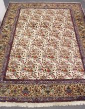 A PERSIAN DESIGN CARPET, cream ground with floral decoration within a similar beige ground border. <br>13ft 0ins x 9ft 8ins.