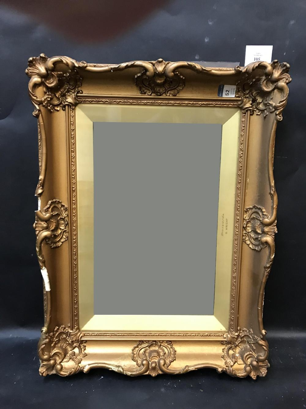 19th Century English School A Gilt Composition Frame With Inset