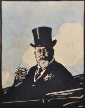 19th - 20th Century English School. 'Bertie', King Edward VII, Woodcut, Unframed, 13