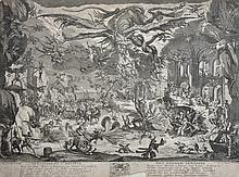 After Jean-Baptiste de Poilly (1669-1728) French. 'Tentation De St Antoine', Engraving, Unframed, 12