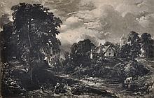 After John Constable (1776-1837) British. 'The Glebe Farm', Mezzotint, Unframed, 5.75