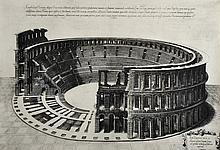 Antonio Lafrery (1512-1577) Italian. 'Roman Amphitheatre', Engraving, 13