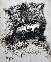 Henry Rayner (1902-1957) British. 'Persian', study of a Cat, Lithograph, Signed and Inscribed in Pencil, 7