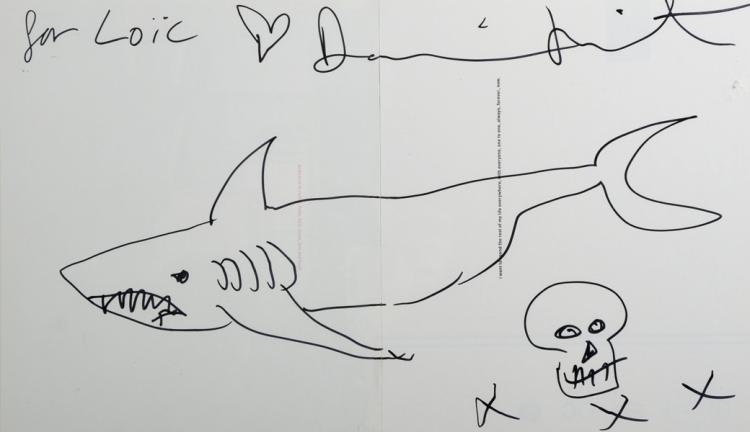 Damien Hirst 1965 British Shark With A Skull Xxx Bla