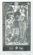 20th Century Continental School. A Courting Couple, Etching, Indistinctly Signed and Dated '75 in Pencil, overall 6.25