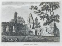 After Samuel Sparrow (18th Century) British. 'Burnham Abbey, Bucks', engraving, 4