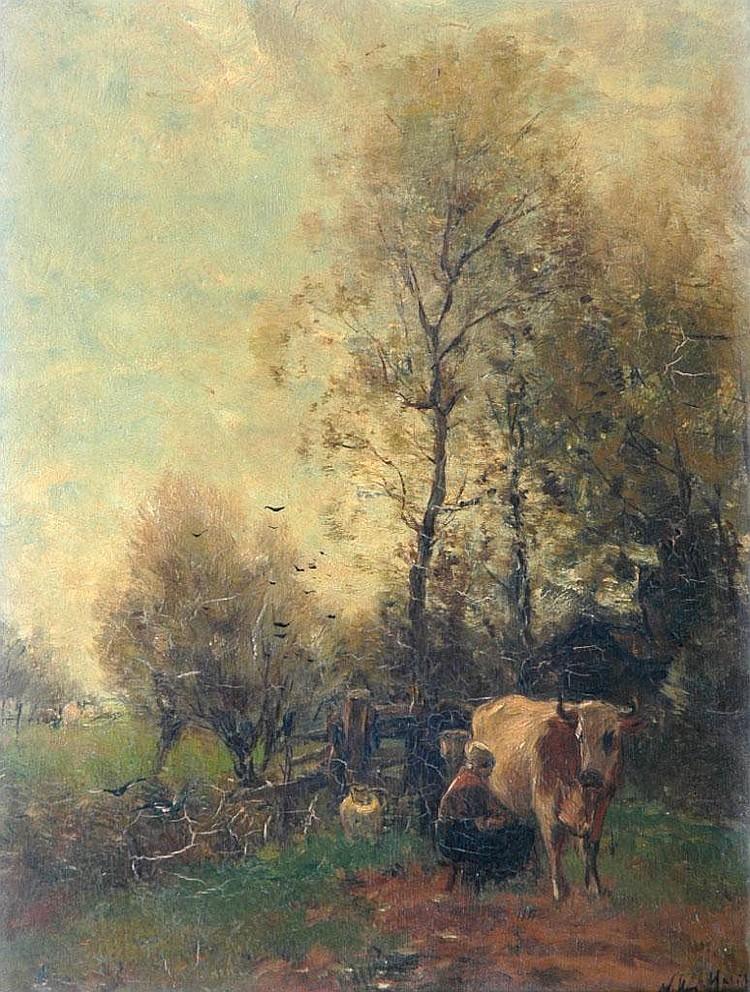 OIL PAINTING: WILLIAM FREDERICK HULK (1852-1906)