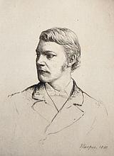 Mortimer Luddington Menpes (1855-1938) British. Portrait of a Young Man, Etching, Signed in Pencil, Unframed, 8