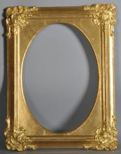 19th Century English School. A gilt Composition Frame, Oval inset, 13.25