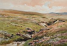Gerald Ackermann (1876-1960) British. A Highland River Landscape, Watercolour, Signed, 9.75