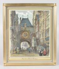 A SWISS MADE PICTURE CLOCK ,
