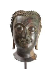 Bronze Thai Sukhothai period Buddha Head