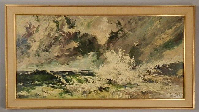 Hal Singer Original Oil on Canvas