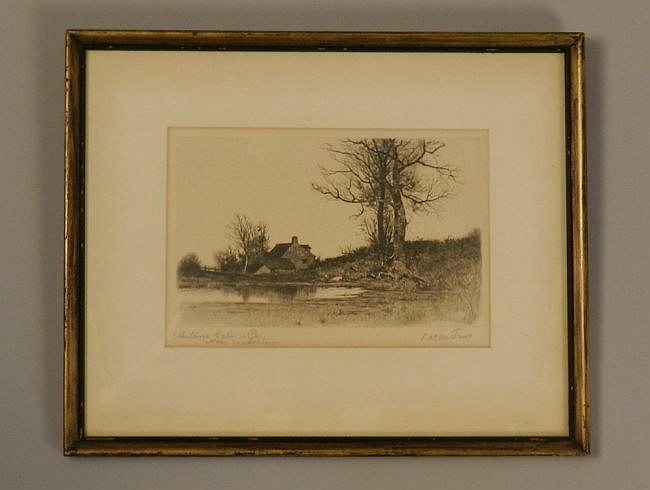 Lauren James Hand Signed Quakertown Etching