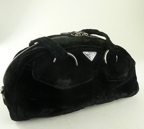 PRADA Black Velvet Purse