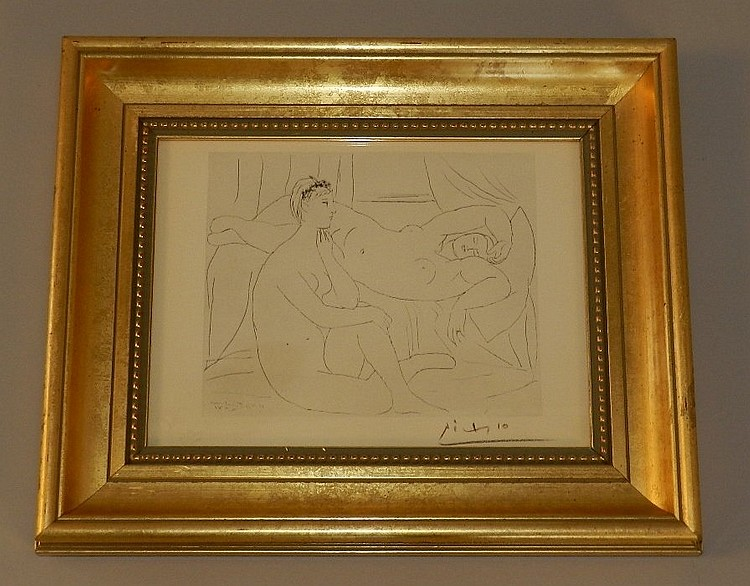 Pablo Picasso (spanish, 1881-1973) offset Litho (after)