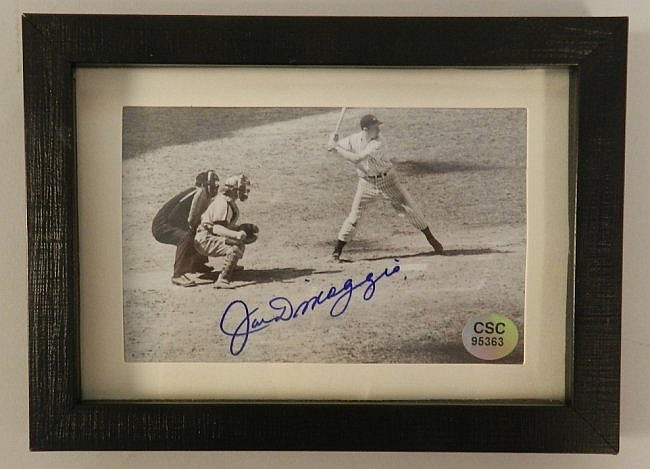 Joe DiMaggio Autographed Matted Photograph