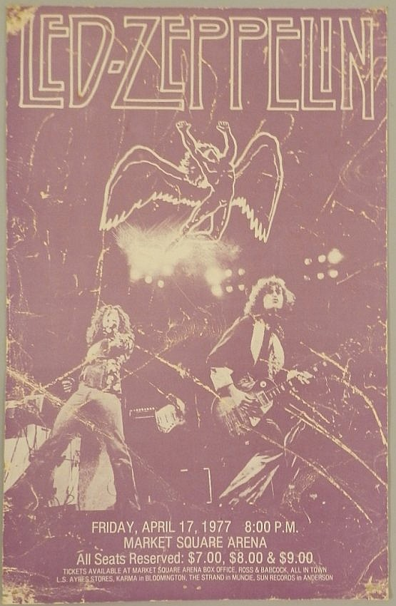 Led Zeppelin Lithograph Poster