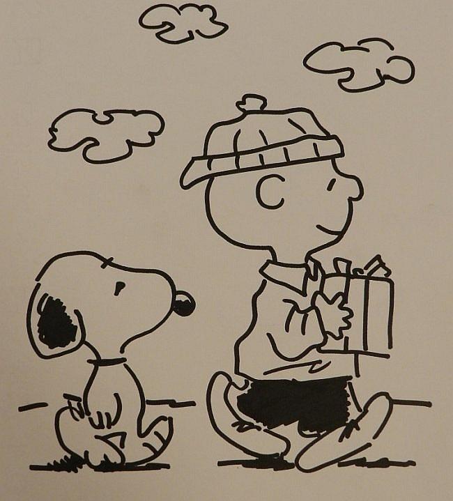 Charlie Brown & Snoopy Sketch, Charles Schulz