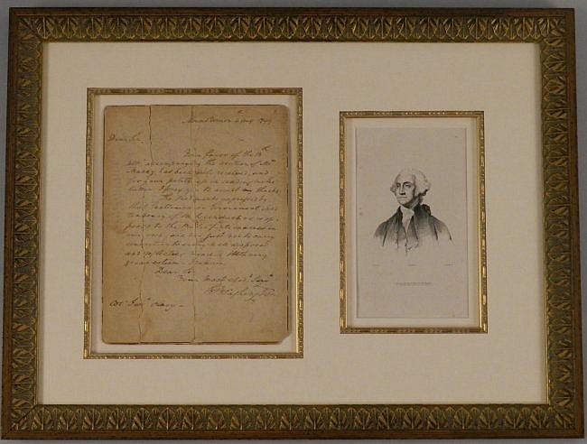 George Washington 1799 Hand Written Signed Letter