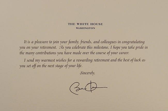 Barrack Obama Hand Signed Correspondence Letter