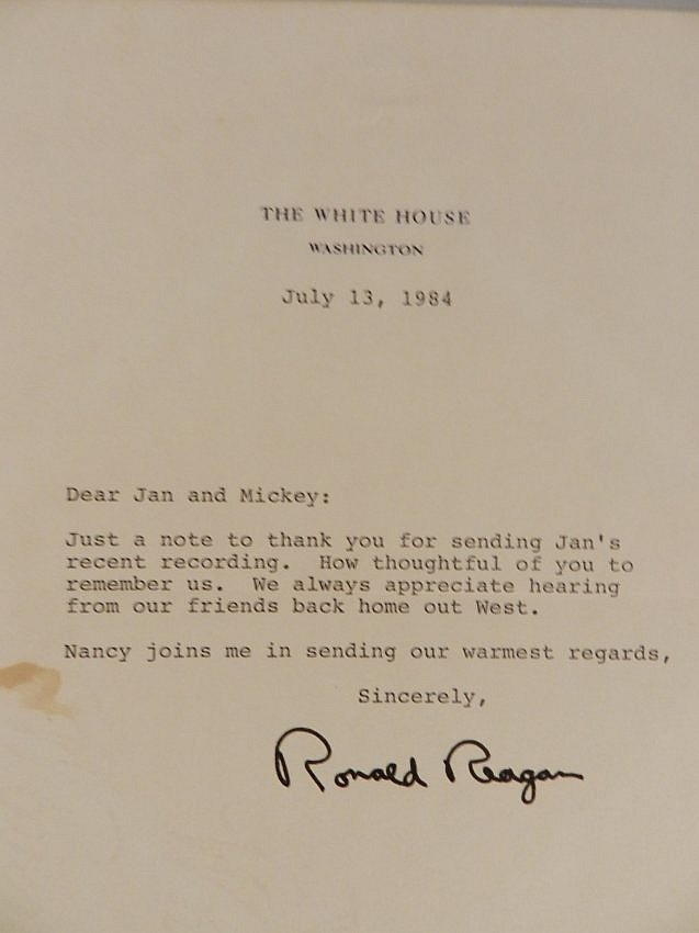 Ronald Reagan Hand Signed Typed Letter