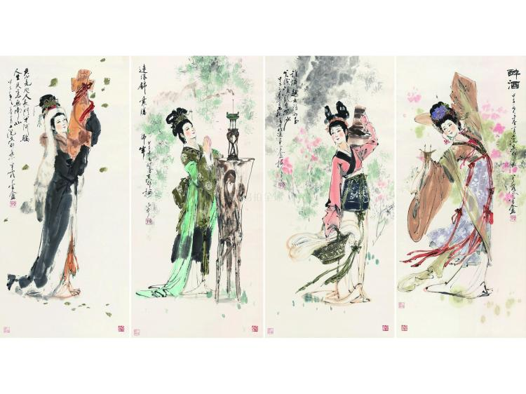 Yan Meihua (b.1927) Four Beauties