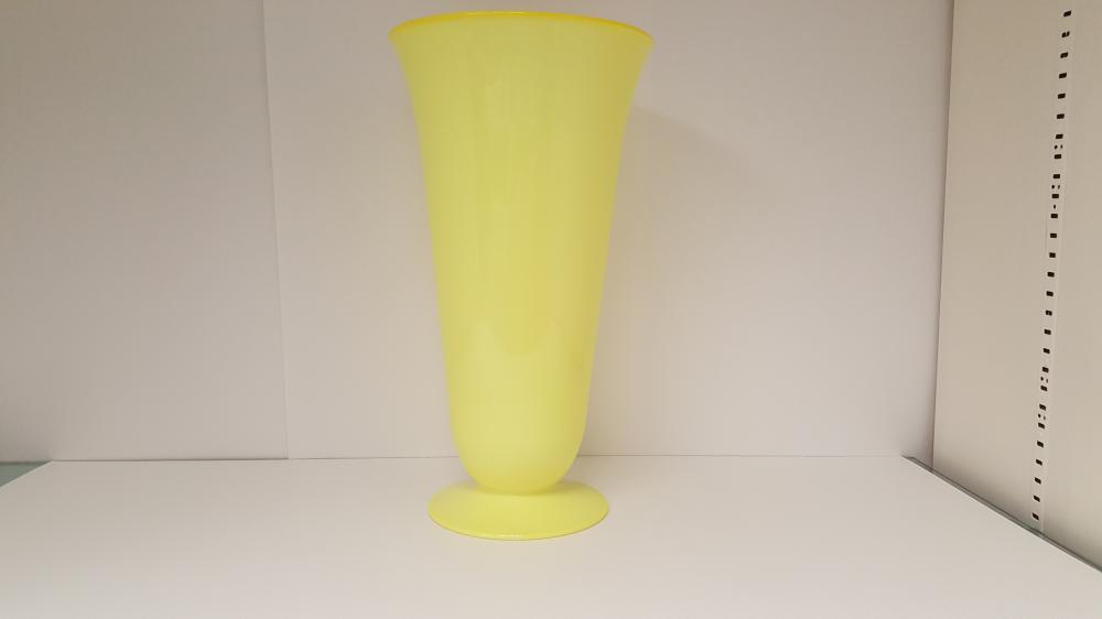 Mid Century Modern Large Yellow Vase