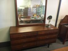 VINTAGE MIRRORED DRESSING TABLE WITH 6 DRAWERS