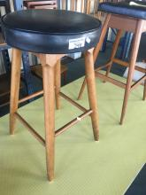 VINTAGE LEATHER TOP BAR STOOL