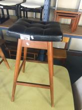 T.H.BROWN LEATHER TOP BAR STOOL