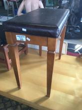 LEATHER TOP STOOL WITH LIFT UP LID
