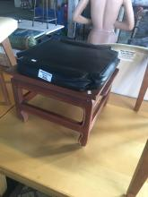 LEATHER TOP FOOT STOOL