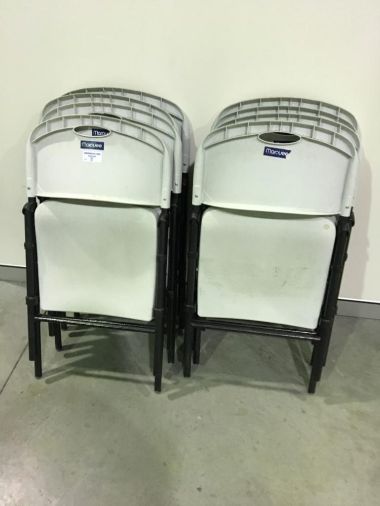 8x Marquee Folding Chairs