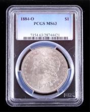 1884-O Morgan Silver Dollar PCGS MS63 This coins w