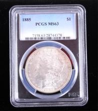 1885-P Morgan Silver Dollar PCGS MS63 This coins w
