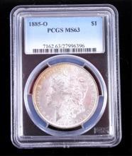1885-O Morgan Silver Dollar PCGS MS63 This coins w