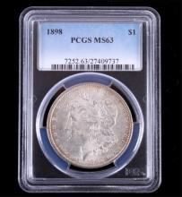 1898-P Morgan Silver Dollar PCGS MS63 This coins w