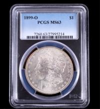1899-O Morgan Silver Dollar PCGS MS63 This coins w
